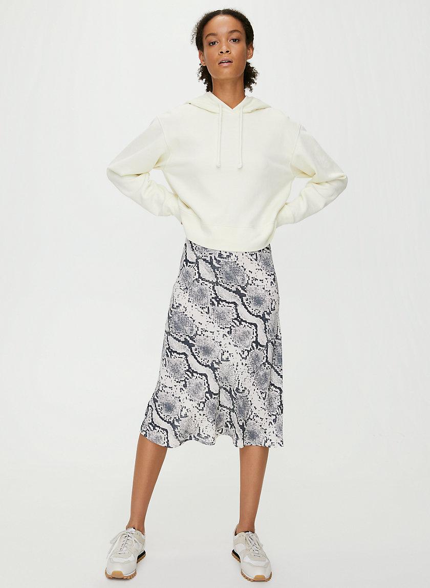 KYRA SKIRT - Python-print slip skirt