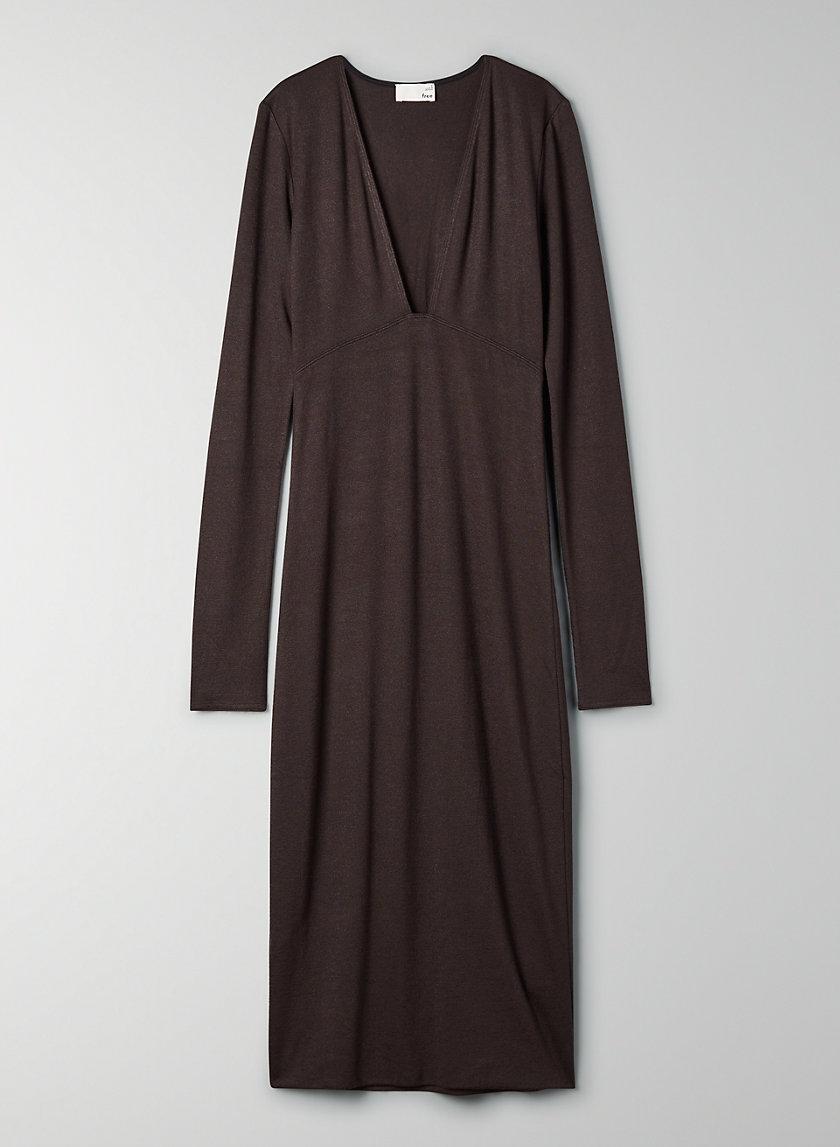 ABBY DRESS - Longsleeve V-neck dress