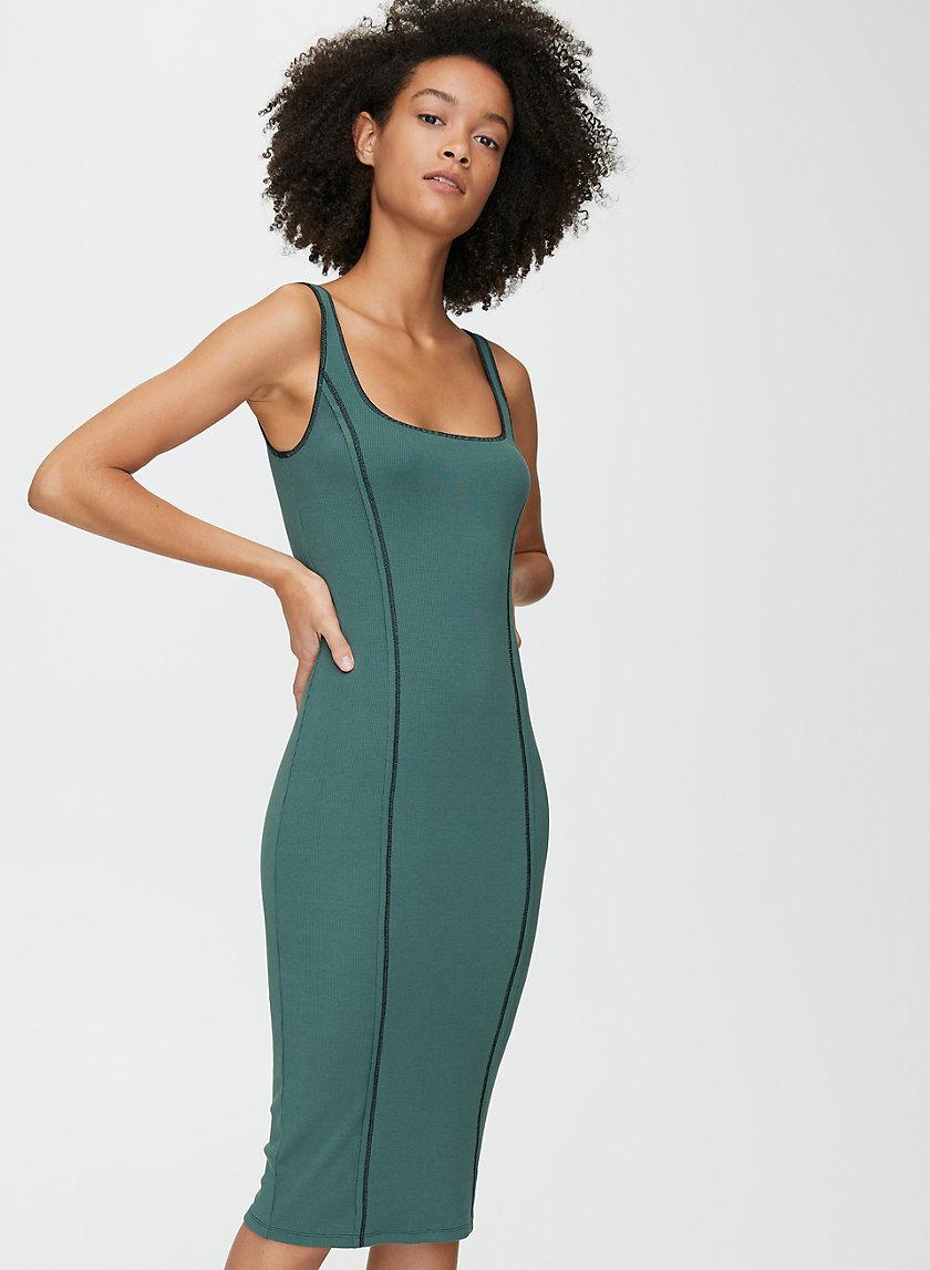 EMERIE DRESS - Jersey bodycon midi dress