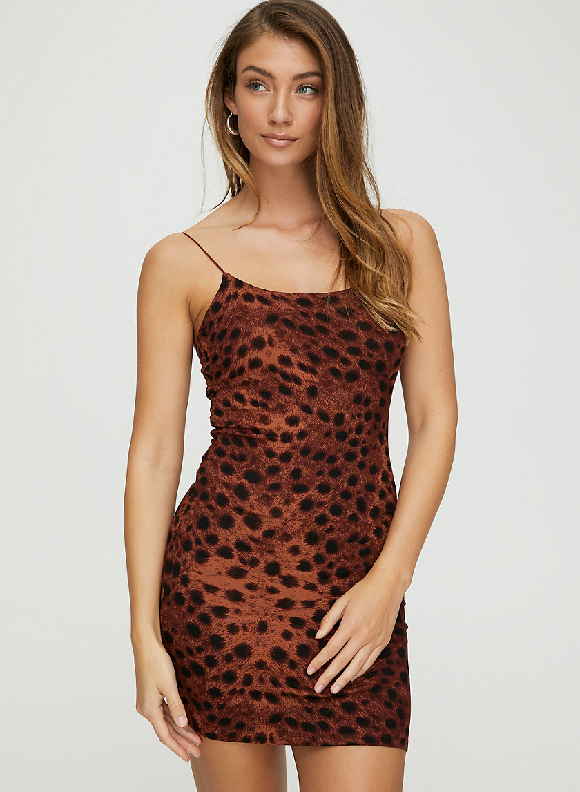 TINY DRESS - Cheetah-print bodycon dress