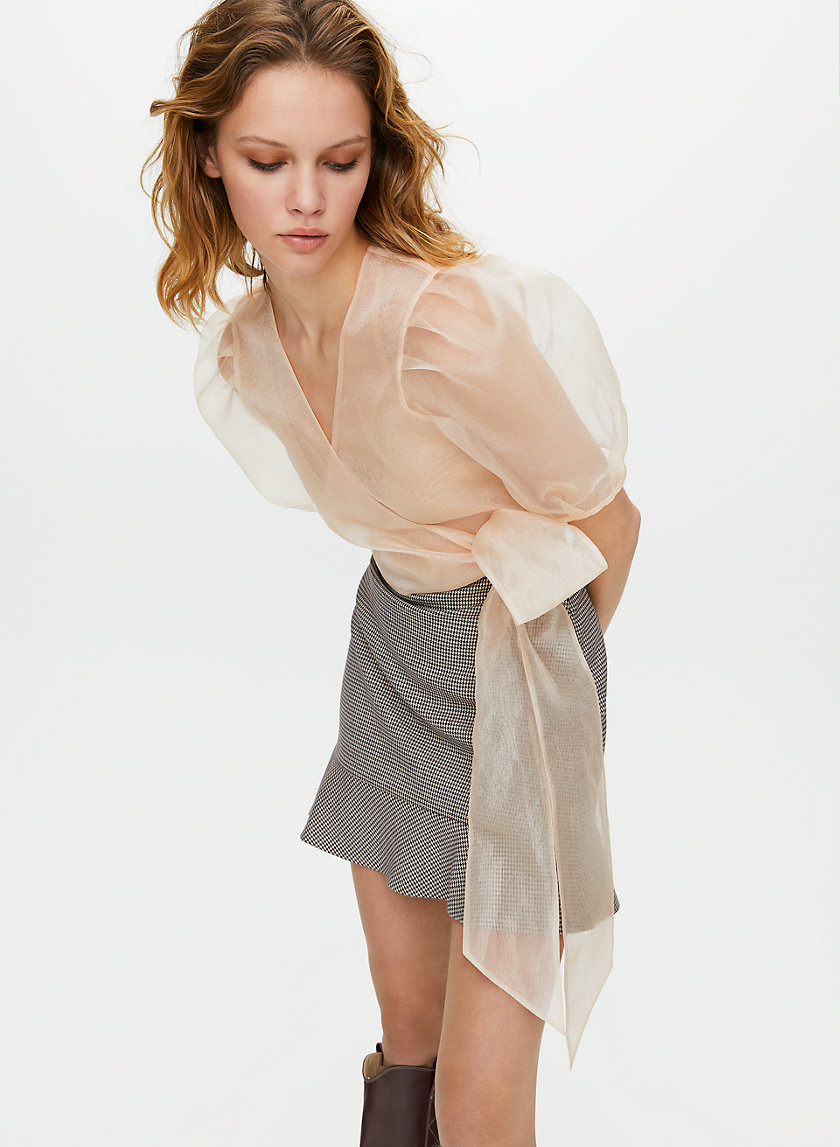 MARTINI BLOUSE - Organza wrap top