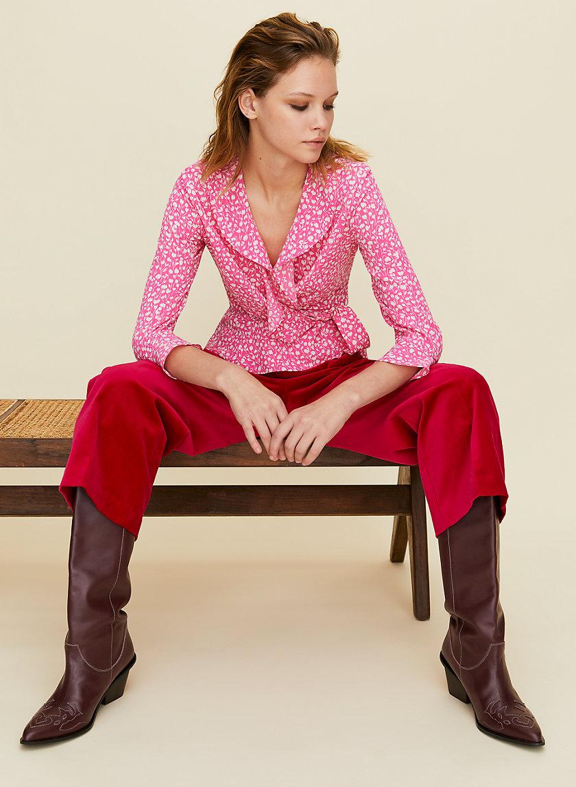 JULEP BLOUSE - Ruffled wrap blouse