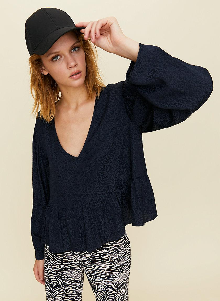 CAMPARI BLOUSE - Long-sleeve peplum blouse