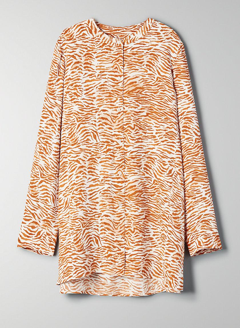 PALOMA BLOUSE - Long-sleeve zebra-print blouse