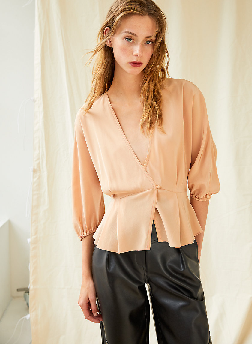 JAZZ BLOUSE - Silk peplum blouse