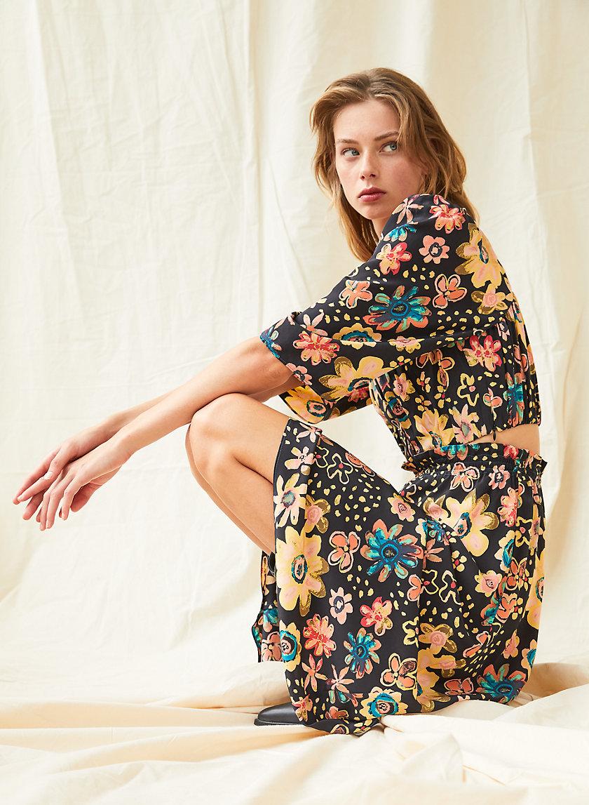 SAMBA BLOUSE - Puff-sleeve bustier blouse