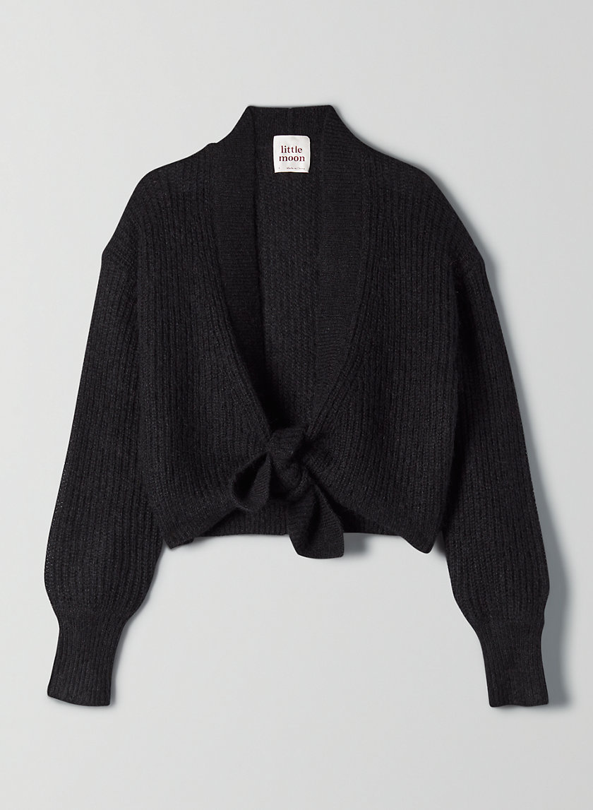 CAMPARI SWEATER - Cropped tie-front wool sweater