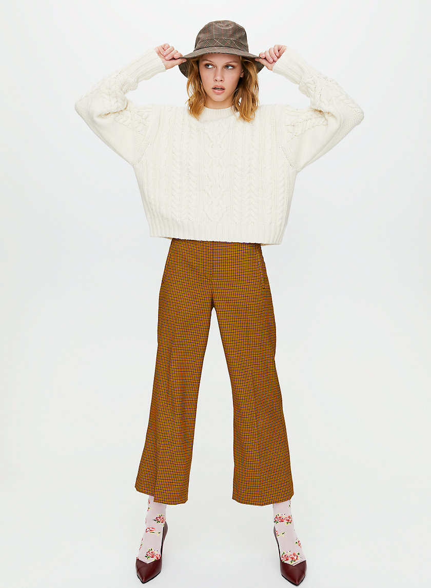 BELLINI SWEATER - Cropped cable-knit sweater