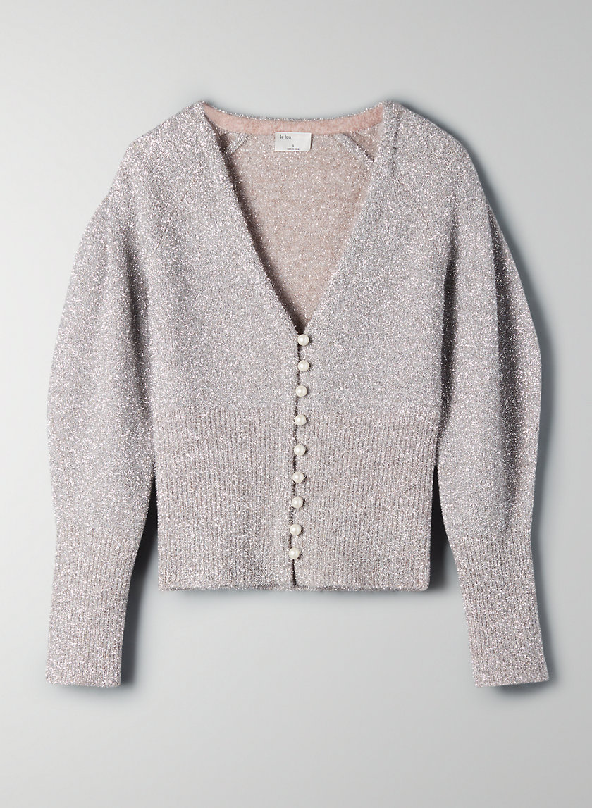 JIVE SWEATER - Metallic V-neck sweater