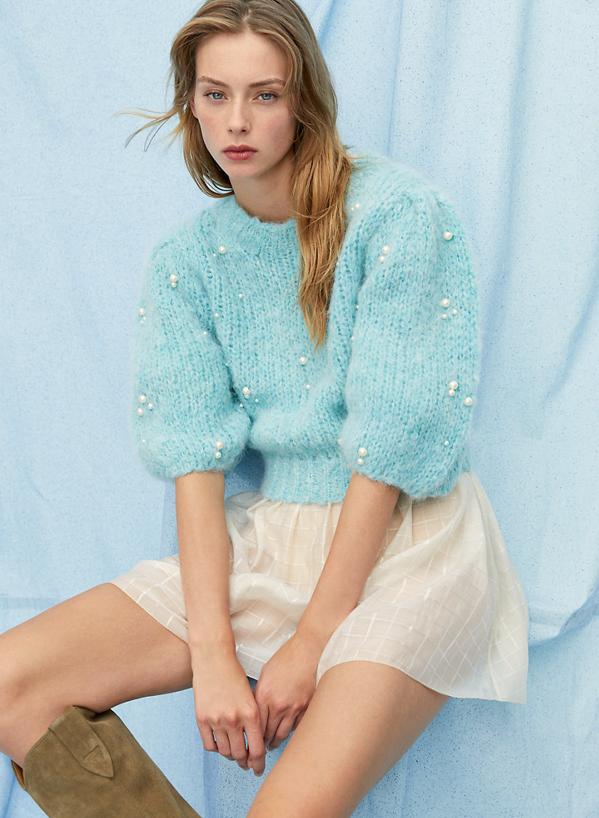 LINDY SWEATER - Pearl-embellished sweater