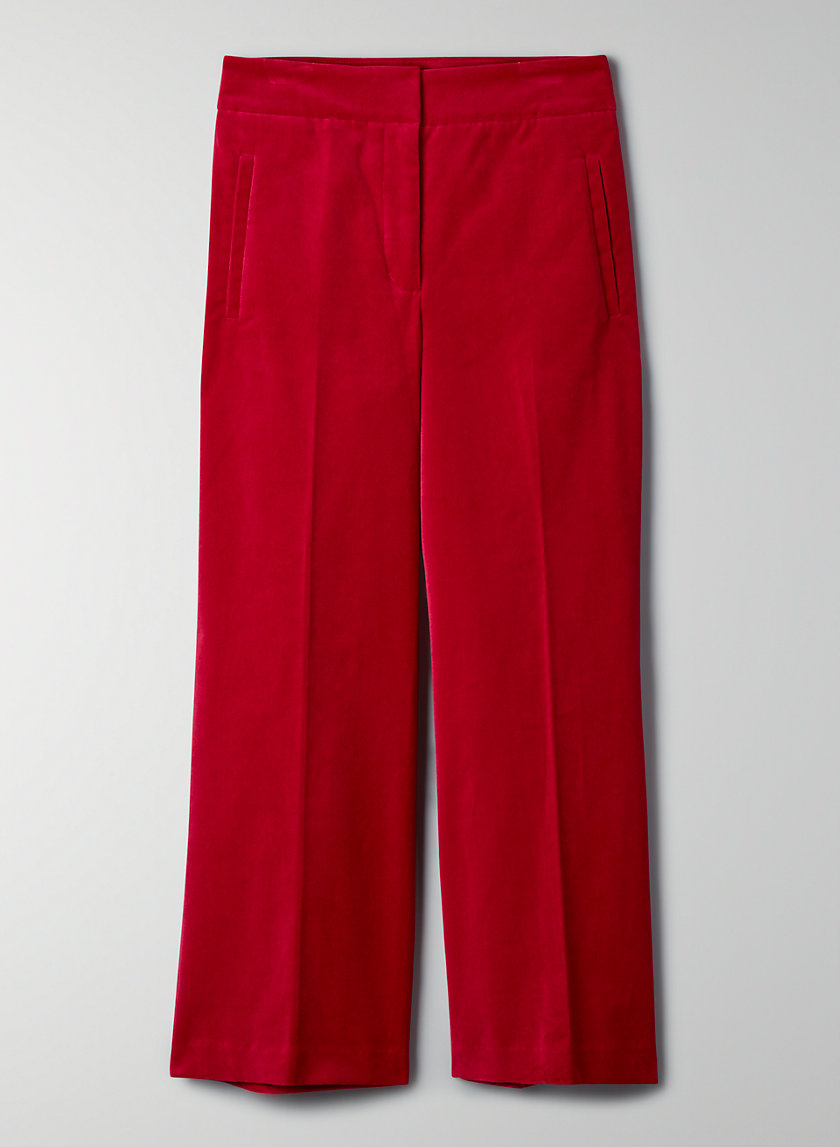 MALVA VELVET PANT - Velvet high-waisted pants