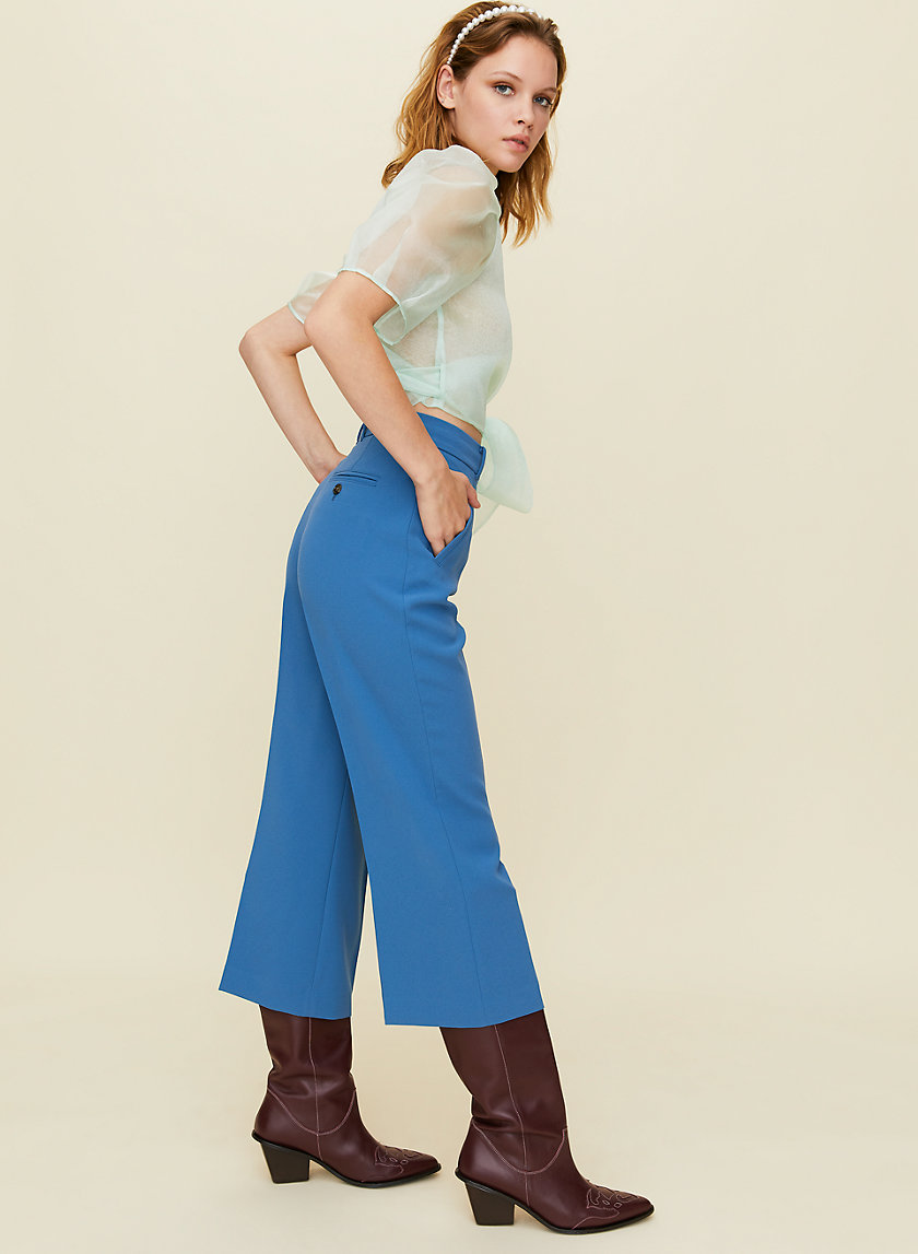 NEGRONI PANT - High-waisted cropped pants
