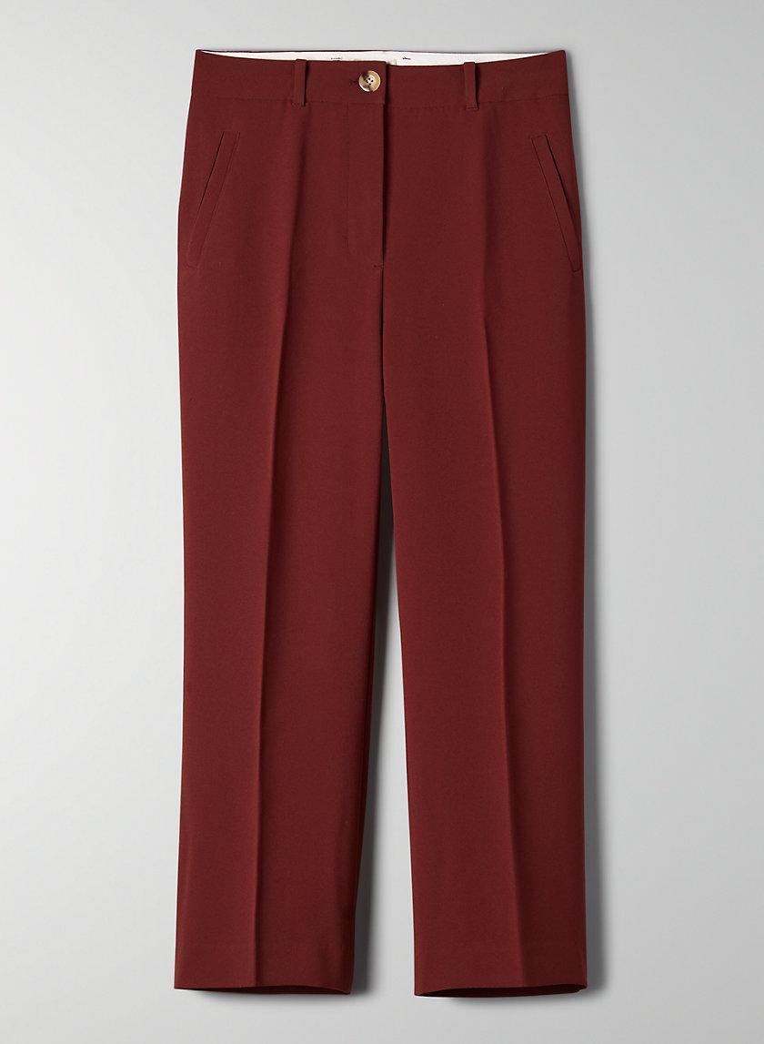 NEGRONI PANT - High-waisted cropped pants
