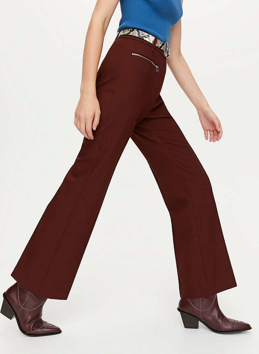 BELLINI PANT - High-rise flared pant