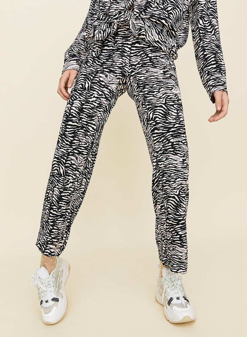 JULEP PANT - Zebra print trousers