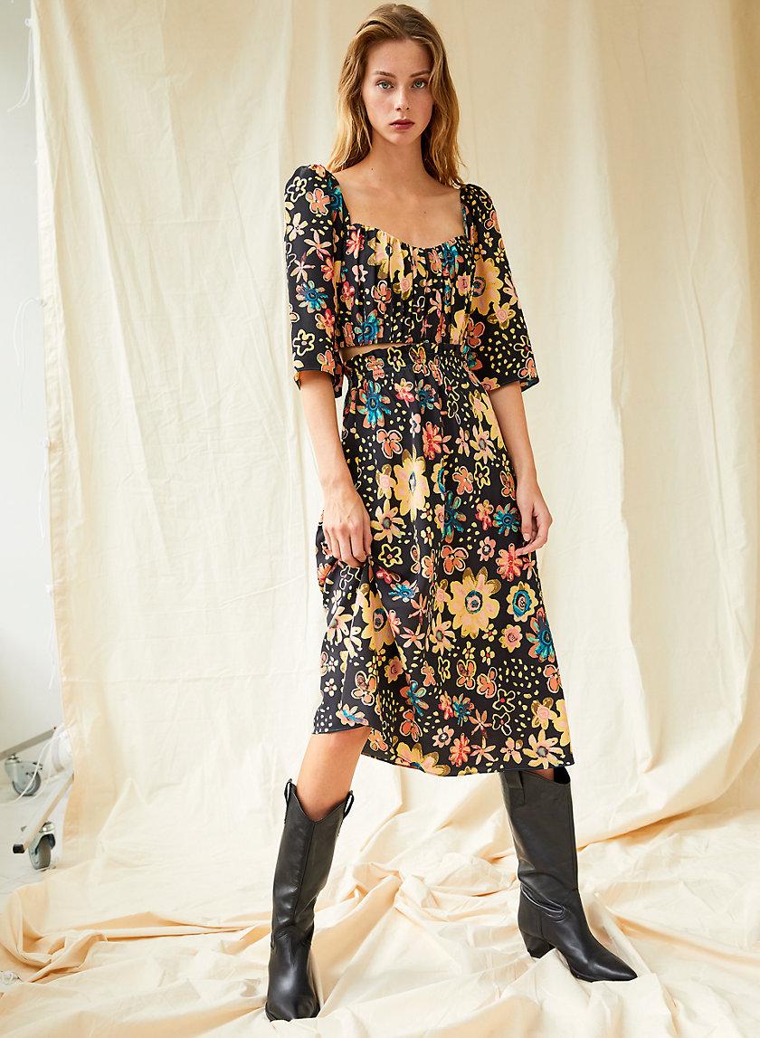 JAZZ SKIRT - A-line silk skirt