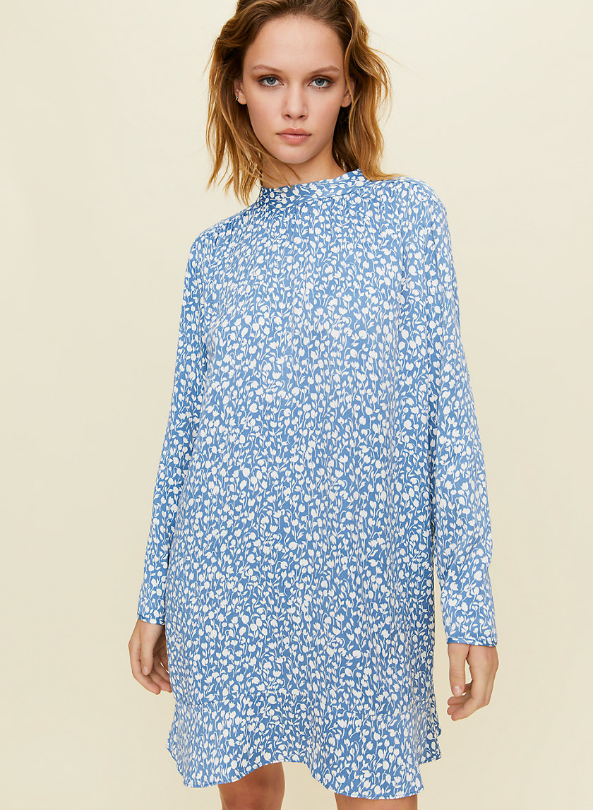 HONEYSUCKLE DRESS - Long-sleeve, floral mini dress