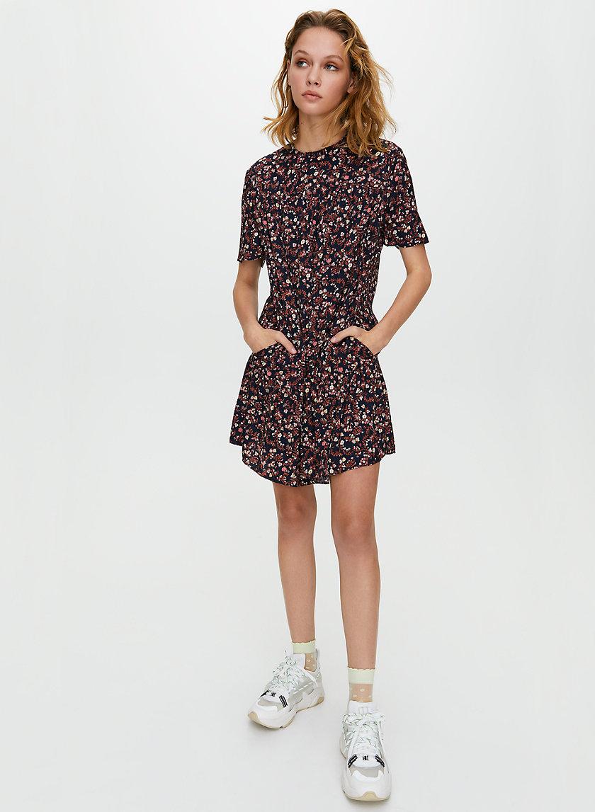 CAMPARI DRESS - Short-sleeve tiered dress