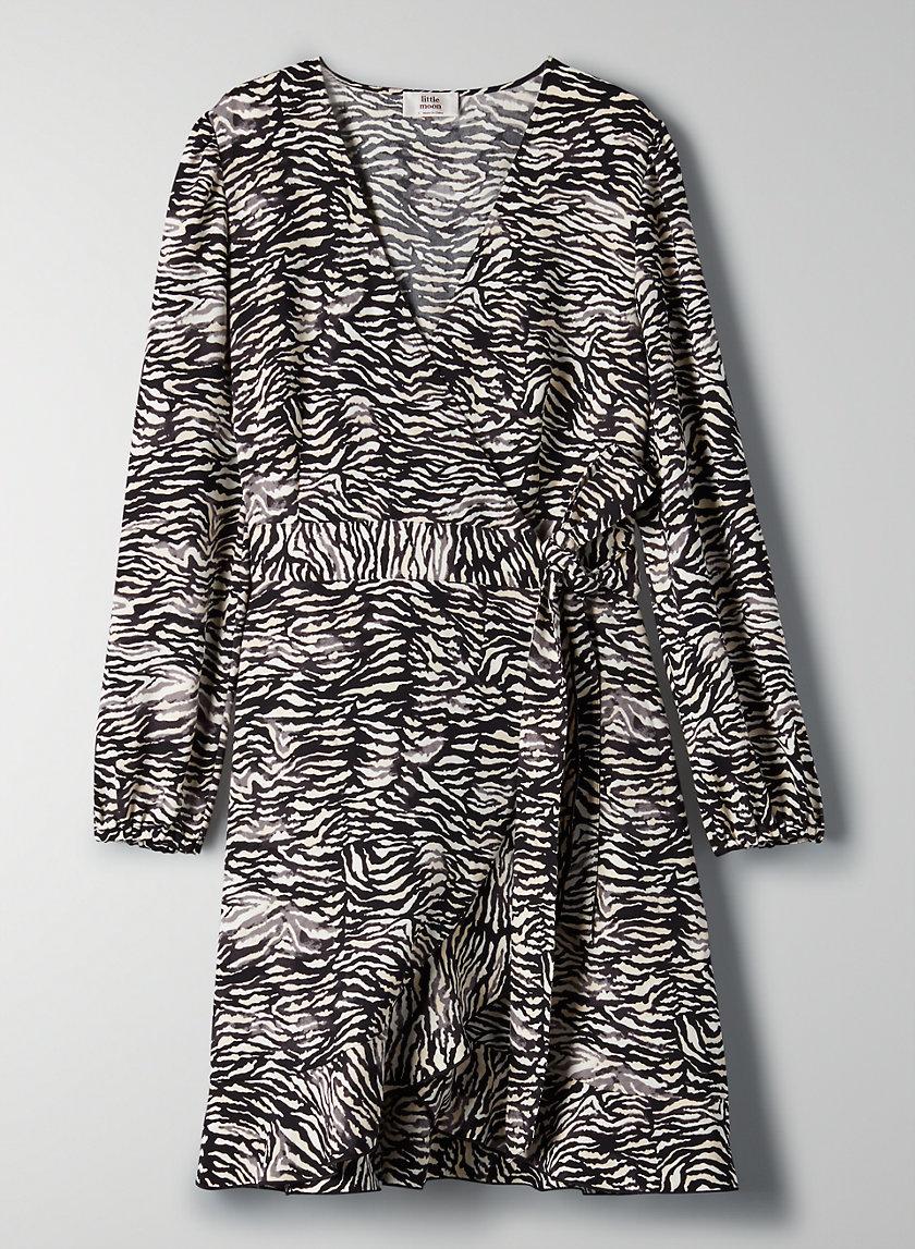 JULEP DRESS - Long-sleeve ruffle wrap dress