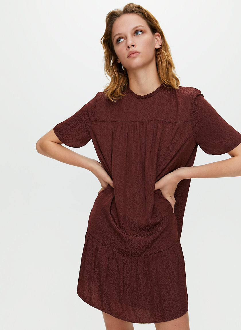 CAMPARI DRESS - Ruffled chiffon shift dress