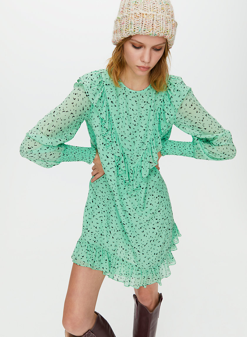 GIMLET DRESS - Ruffled shift dress