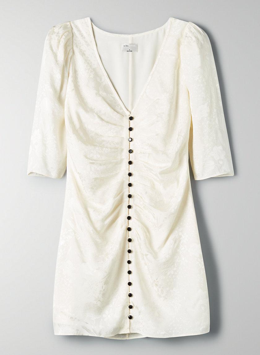 TANGO DRESS - Puff-sleeve silk mini dress