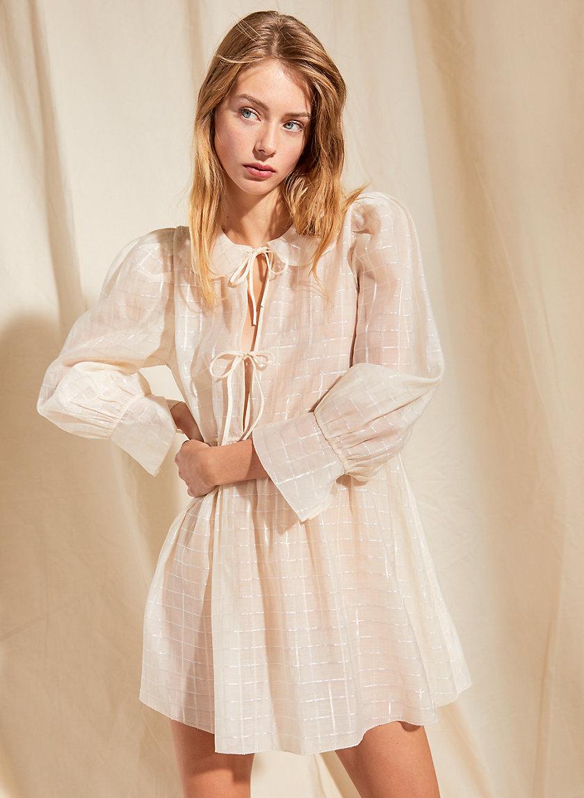 FOXTROT DRESS - Shiny tie-front mini dress