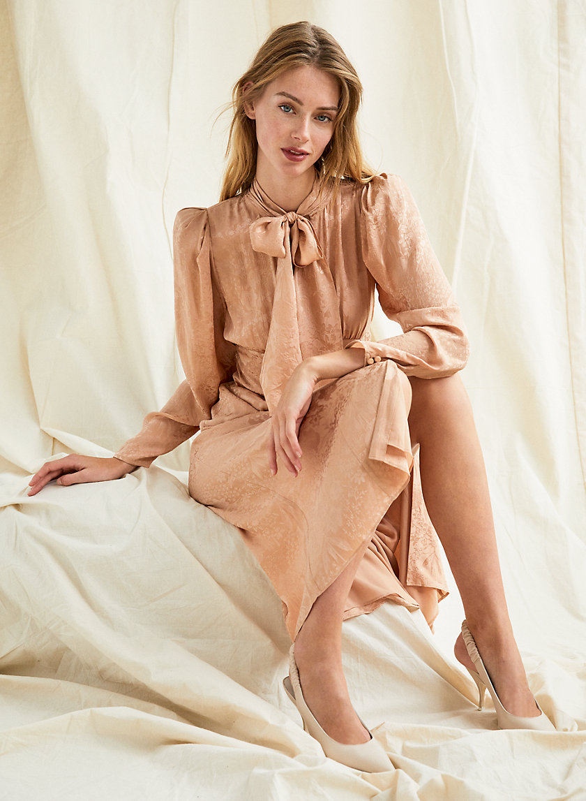 MAMBO DRESS - Long-sleeve tie-collar dress