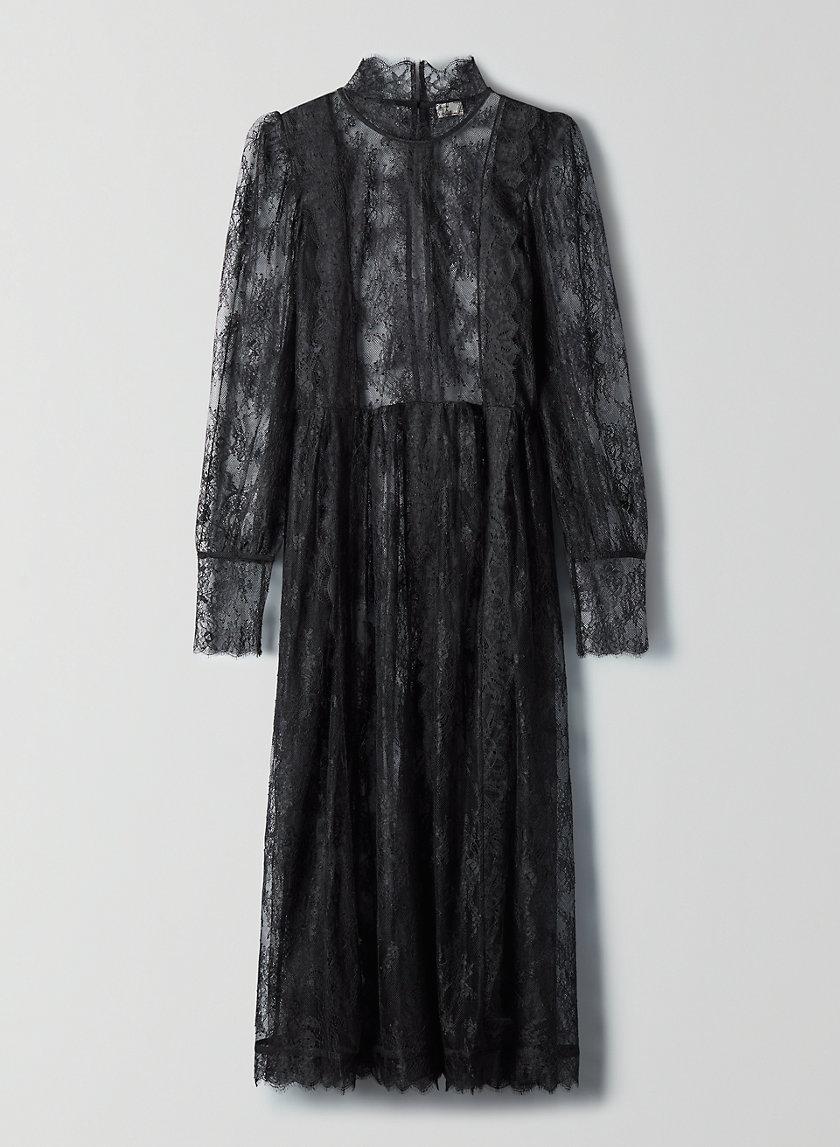 PLIÉ DRESS - Long-sleeve lace maxi dress