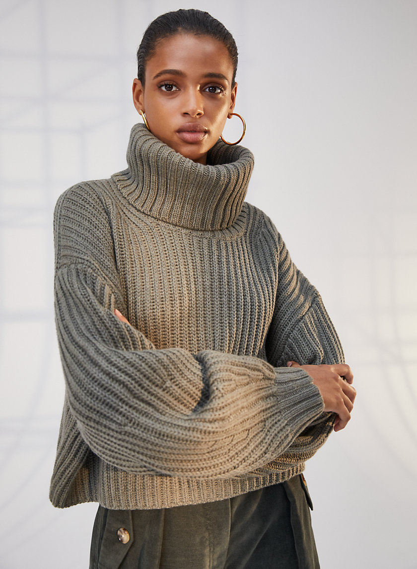 GUELL SWEATER - Cropped funnel-neck sweater