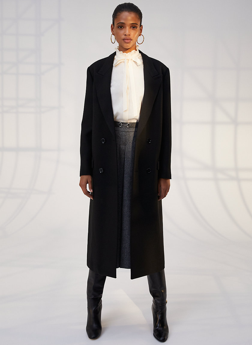 HYDE COAT - Long menswear-inspired coat