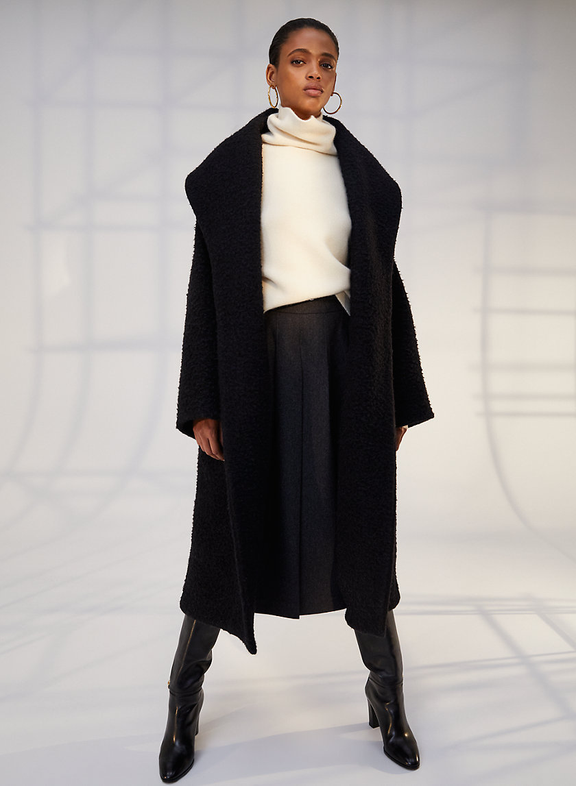 GUELL WOOL COAT - Long A-line wool coat