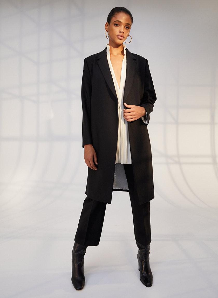 LUXEMBOURG WOOL COAT - Long open jacket