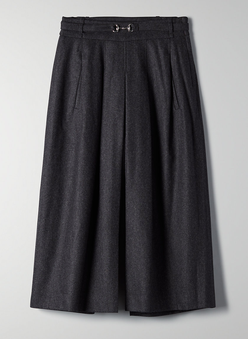HYDE WOOL CASHMERE PANT - Pleated, wide-leg trouser