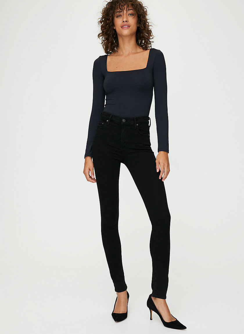 ROCKET ALL BLACK - High-waisted skinny jean