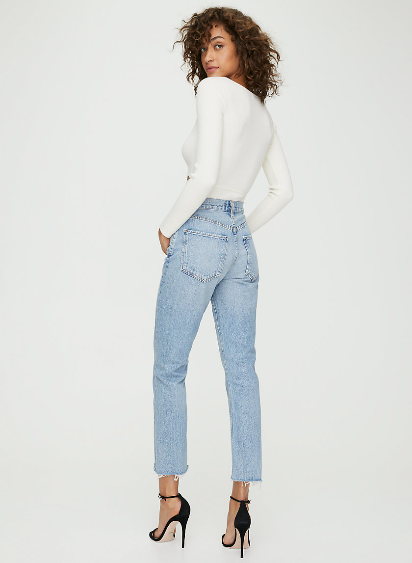 RILEY - High-waisted, straight-leg jean