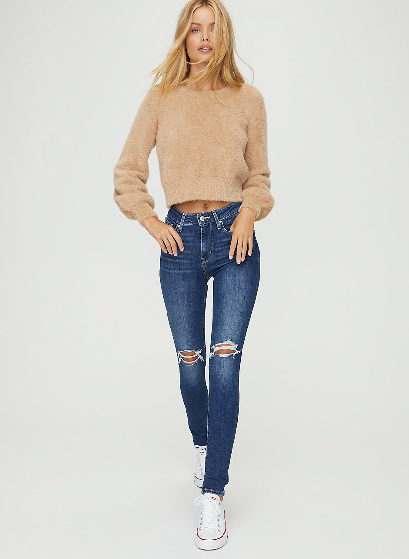 721 SKINNY - Skinny mid-rise distressed jeans