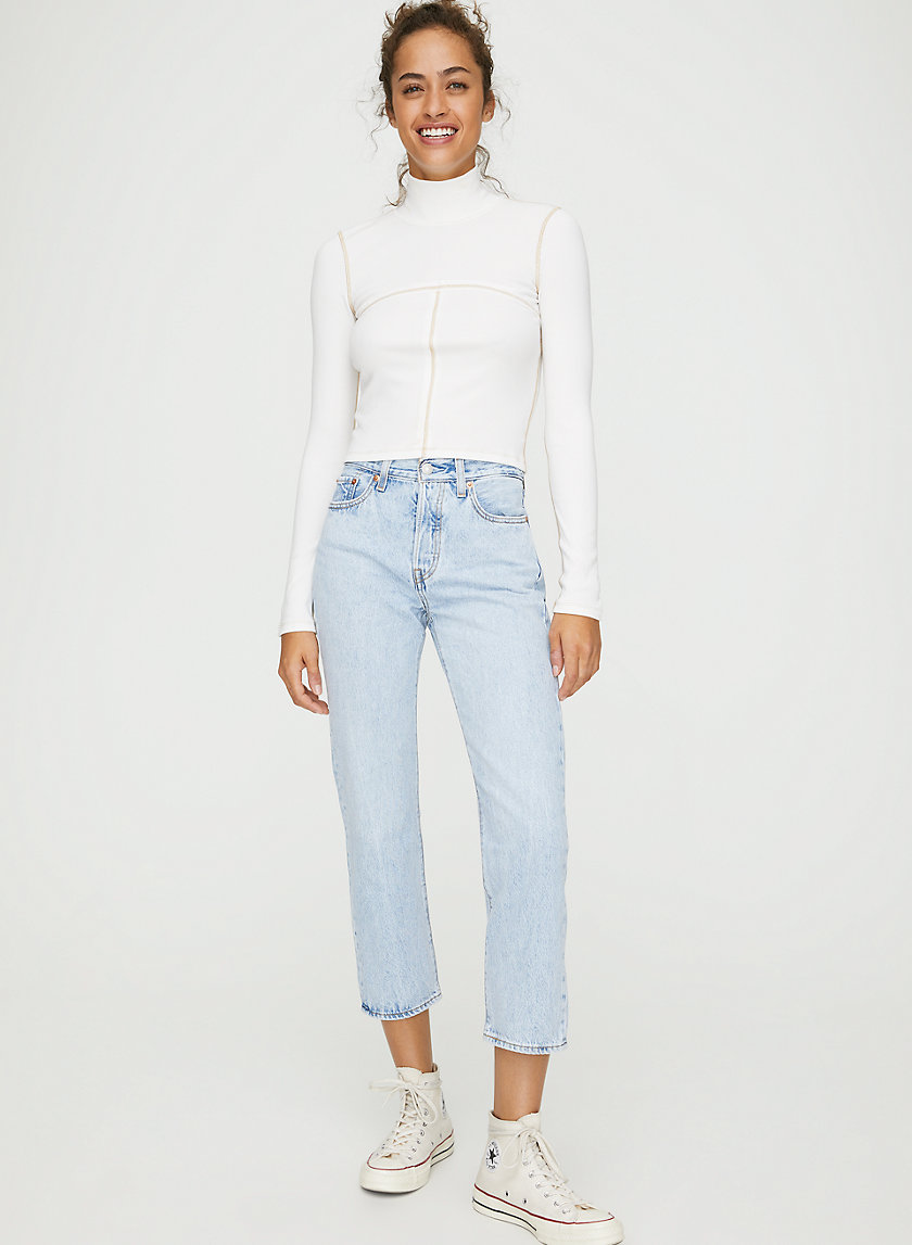 WEDGIE STRAIGHT - High-waisted mom jean