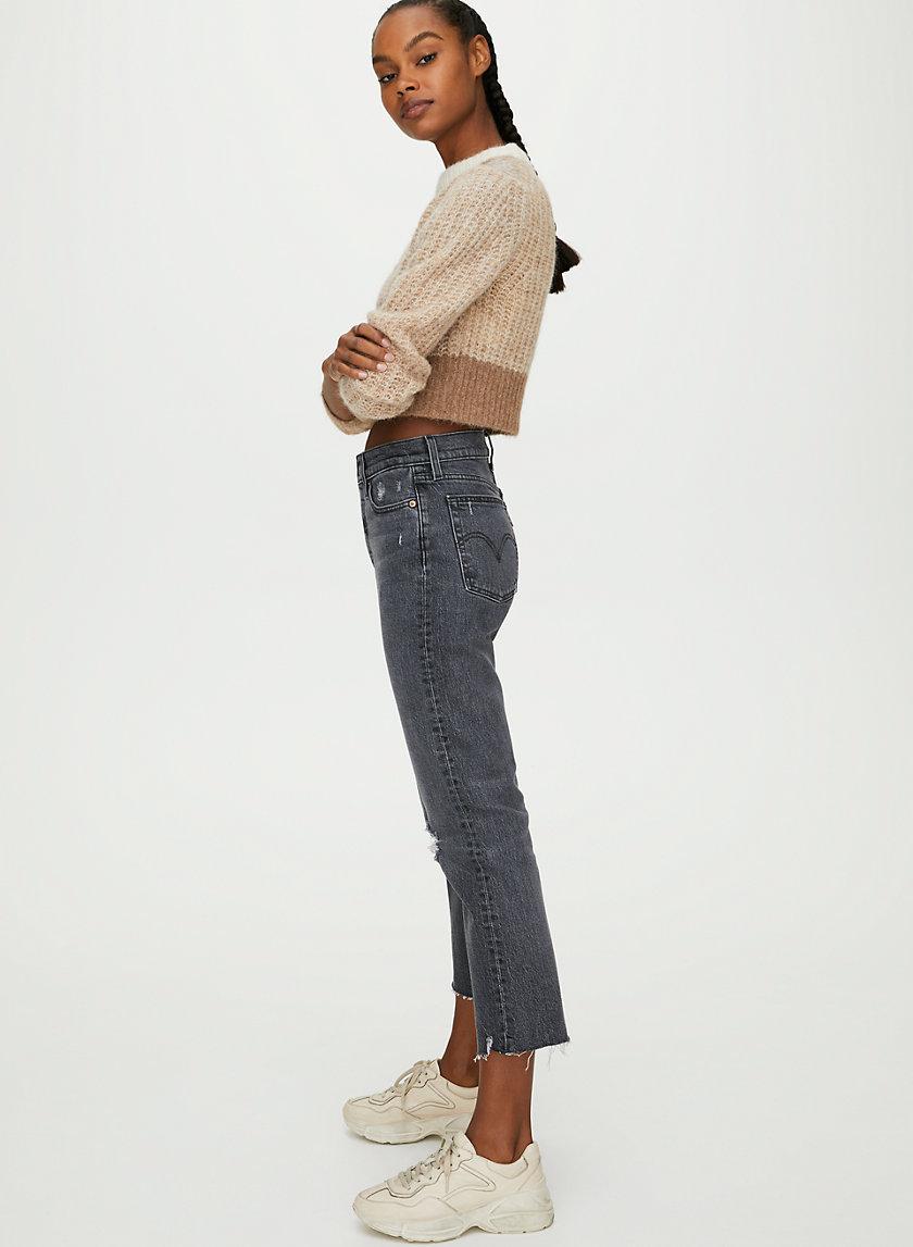 WEDGIE STRAIGHT - High-waisted mom jean