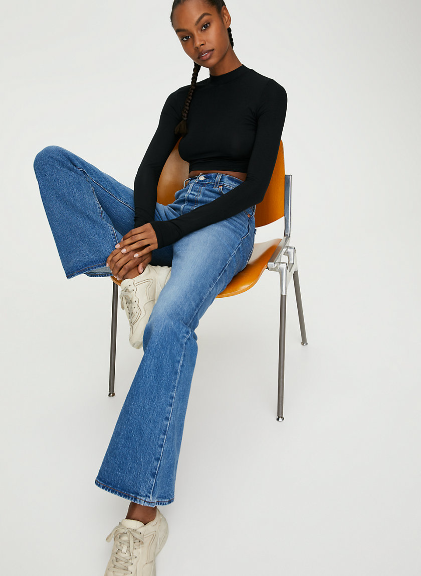 RIBCAGE FLARE - High-rise flared jeans