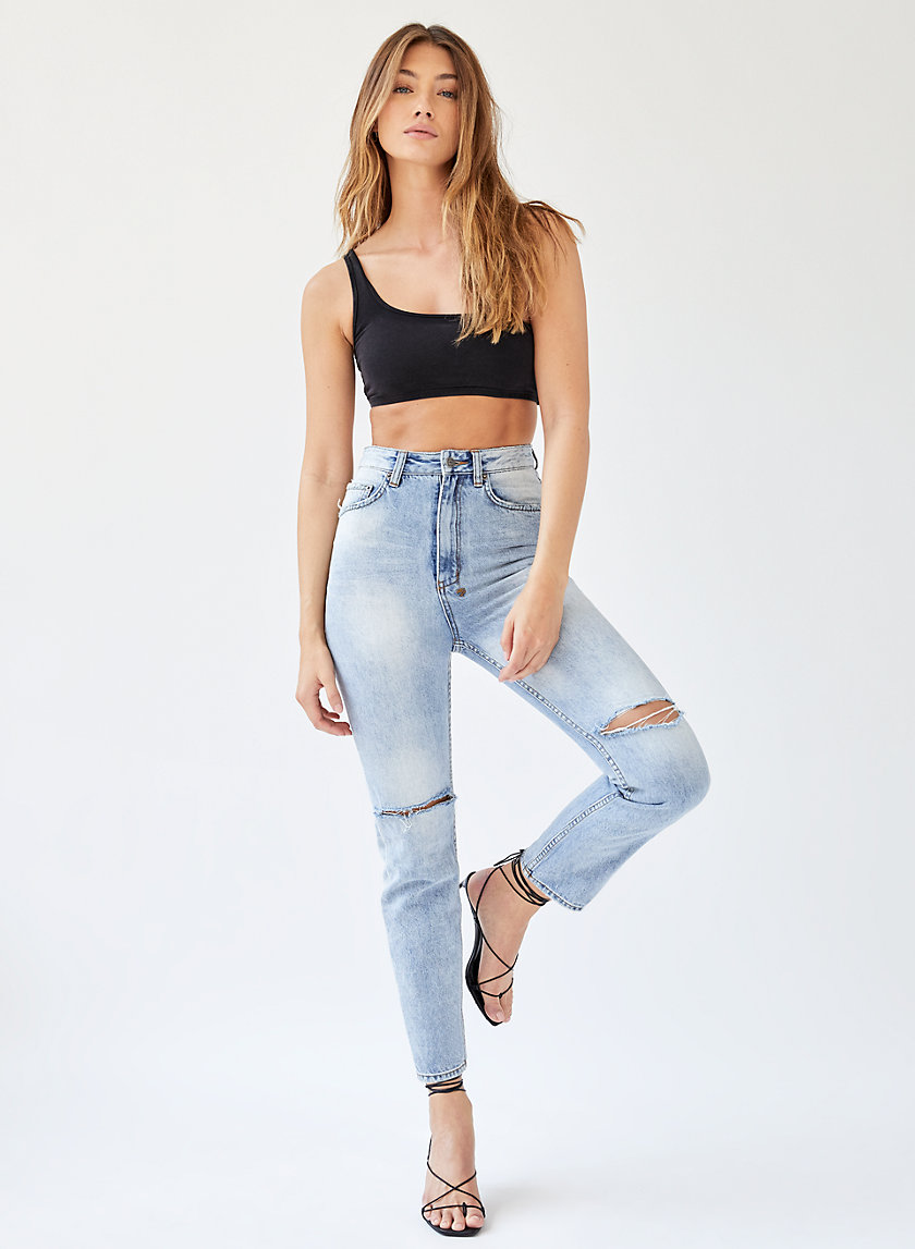 CHLO WASTED MORTAL SLASH - High-waisted '90s jean