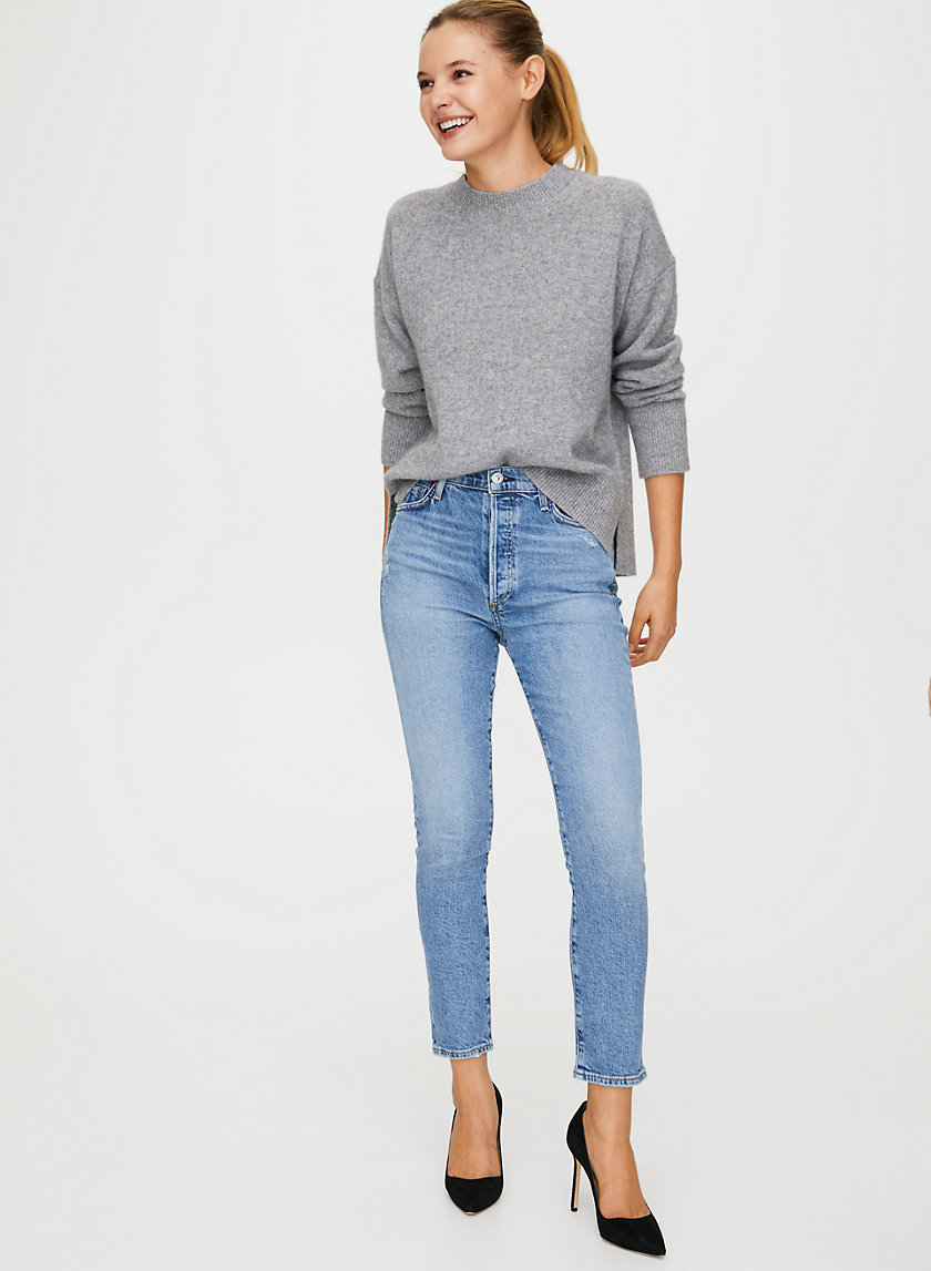 OLIVIA CHIT CHAT - High-waisted, slim-fit jeans