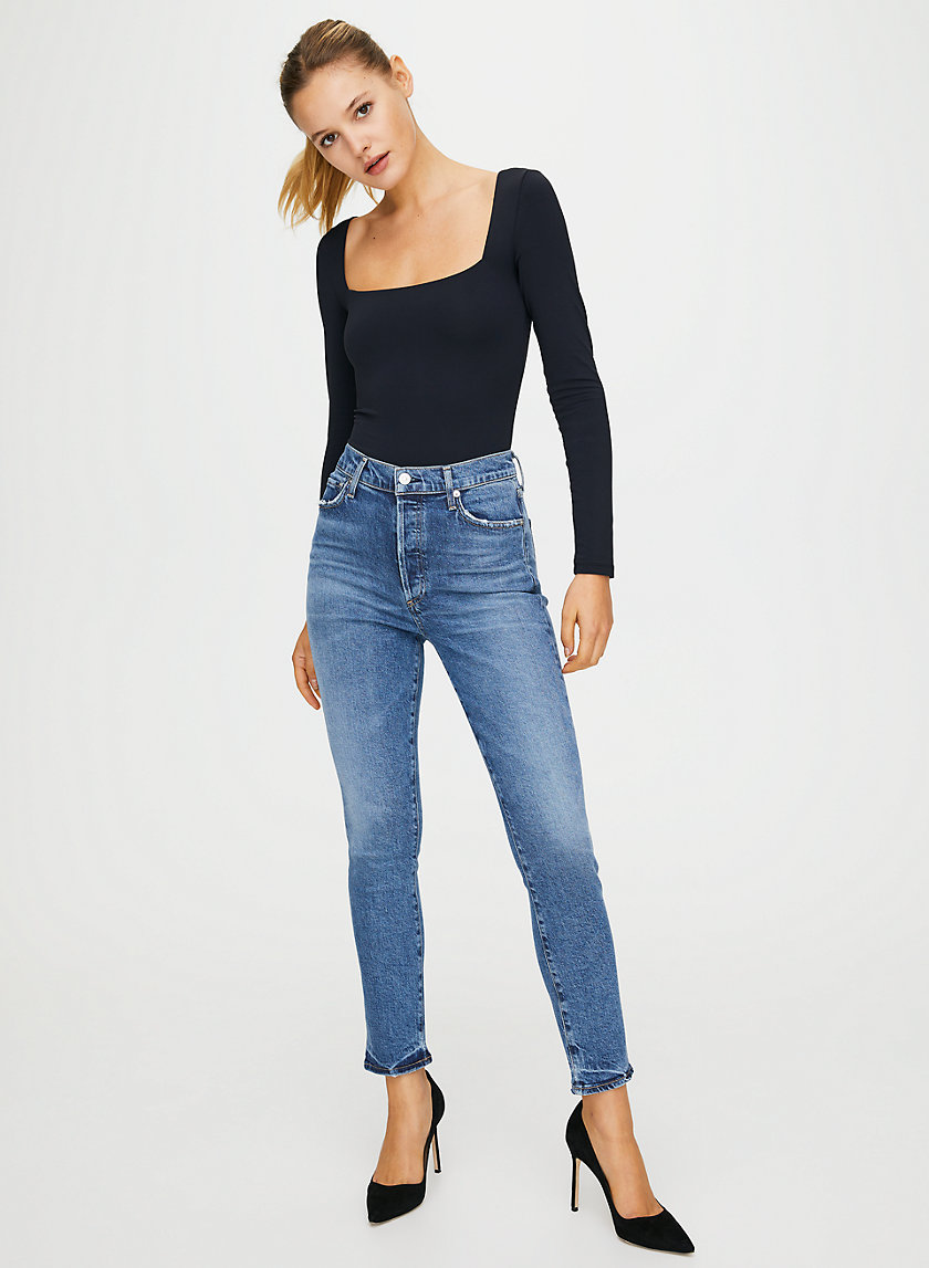 OLIVIA MOMENTS - High-waisted, slim-fit jean