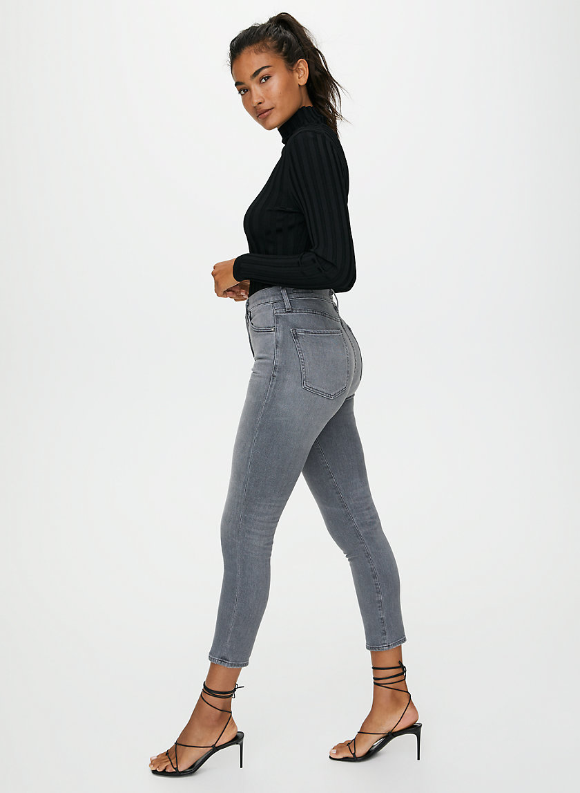 OLIVIA VAPOUR - High-waisted, slim-fit jeans