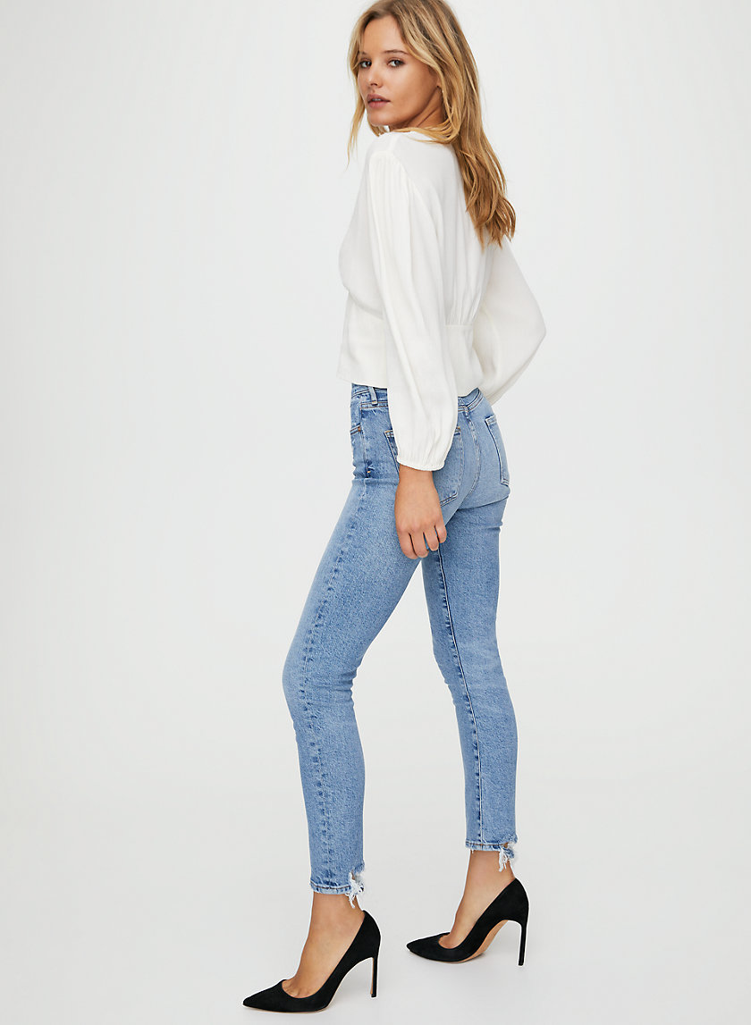 HARLOW ANKLE CHIT CHAT - Mid-rise skinny jean