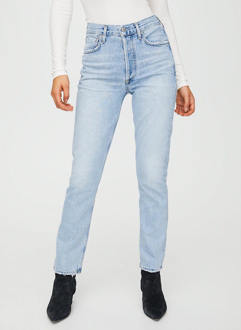CHARLOTTE LA LUNA - High-waisted straight-leg jean