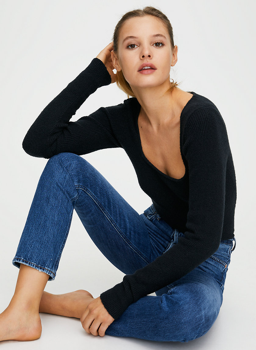 CHARLOTTE HOLD ON - High-waisted straight-leg jean