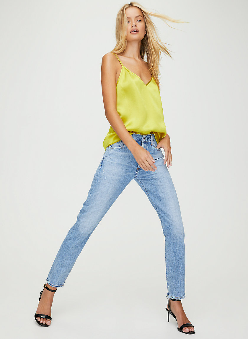 LIYA SOUNDTRACK - High-rise slim leg jeans