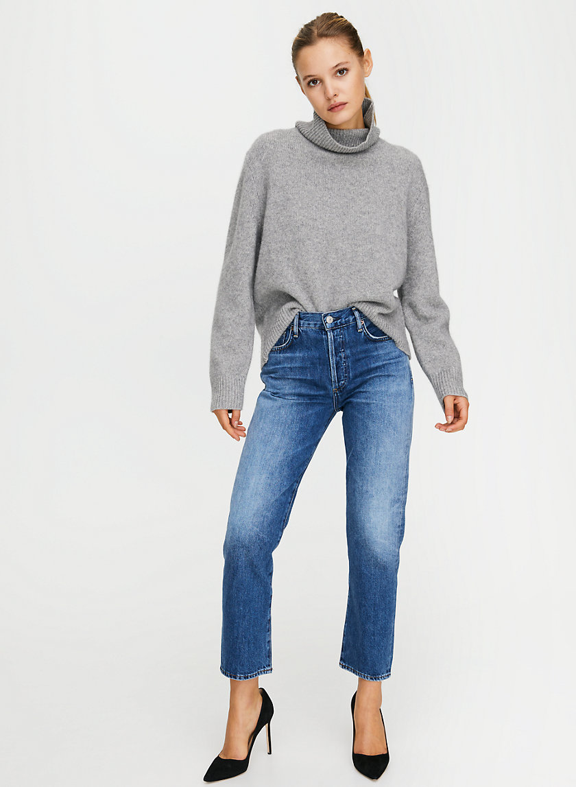 MCKENZIE GAZING - Mid-rise straight-leg jean
