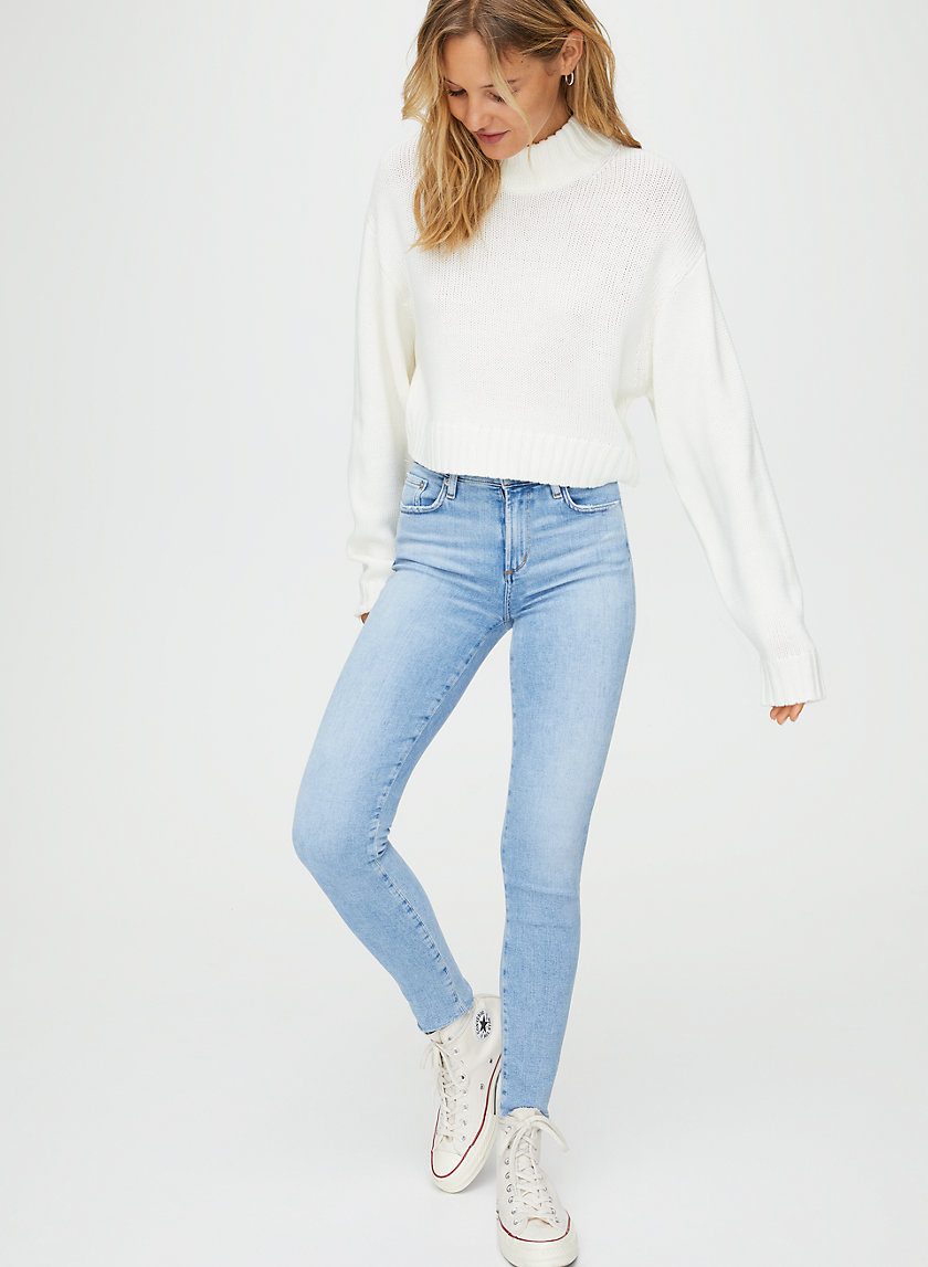SOPHIE ANKLE FACET - High-waisted skinny jeans